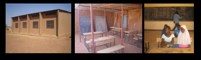 Renovierung und teilweise Bau von 12 Landschulen in der Gemeinde Tchighozérine, im Norden von Niger unter Einsatz lokaler Fach- und Arbeitskräfte, sowie Materialien.
