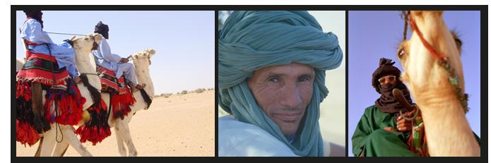 Impressionen aus den Anfängen der Vereinsarbeit 2004: Stolze, traditionelle Tuareg-Nomaden.